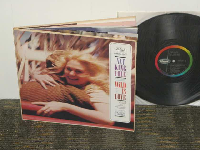 "Nat King Cole/Nelson Riddle - ""Wild Is Love"" STEREO Hardbound Cover w/color booklet 9:00 o'clock logo"