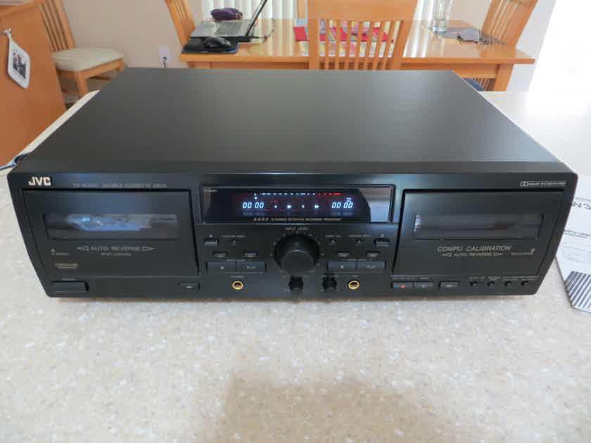 JVC Duel Cassette Deck TD-W354BK