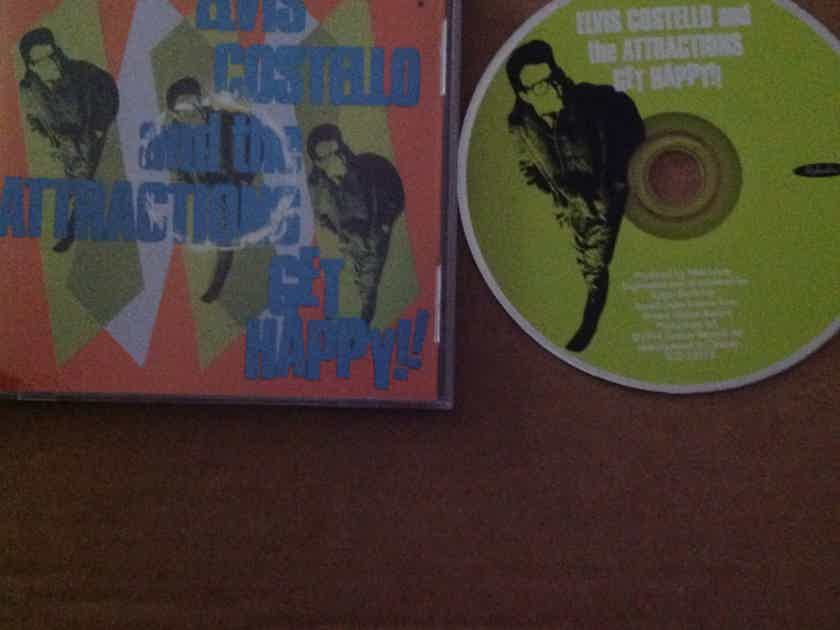 Elvis Costello And The Attractions  - Get Happy!! RykoDisc 30 Tracks On One Compact Disc