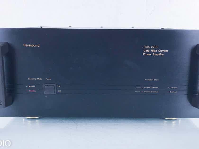 Parasound HCA-2200 Stereo Power Amplifier HCA2200 (15681)