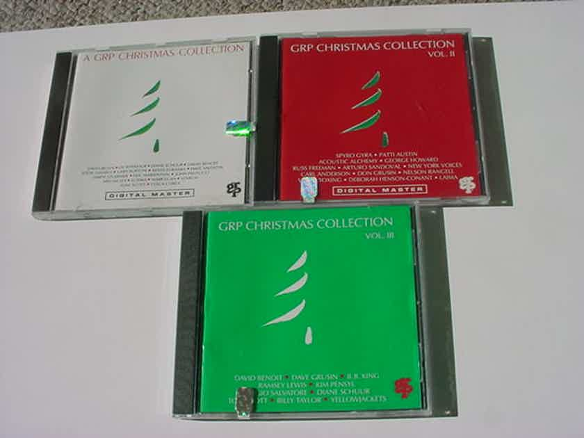 JAZZ CD LOT of 3 cd's - GRP Christmas Collection volumes I  II AND III