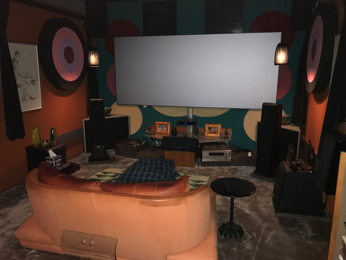 """Riot of color"" dirty  home cinema"