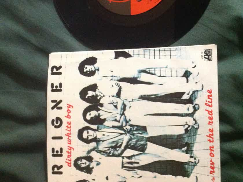 Foreigner - Dirty White Boy Atlantic Records 45 With Picture Sleeve Vinyl NM