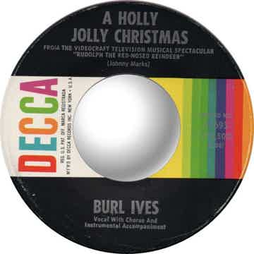 Burl Ives Have a Holly Jolly Christmas 45 RPM Vinyl