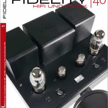 Lyric Audio Ti100 Mk.II on the frontpage of the FIDELITY magazine
