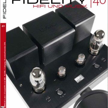 Lyric Audio Ti100 Mk.II on the frontpage of the FIDELITY magazine