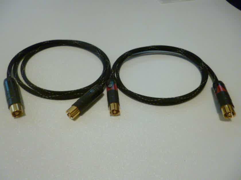 Schmitt Custom Audio Belden/Neutrik Profi RCA Interconnects 1 meter 1 pair