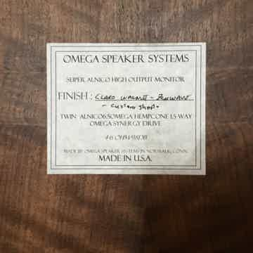 Omega Speaker Systems Super Alnico High Output Monitors