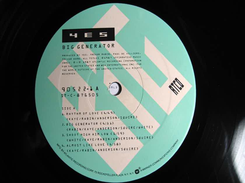 Yes - Big Generator  - 1987  ATCO Records 7 90522-1