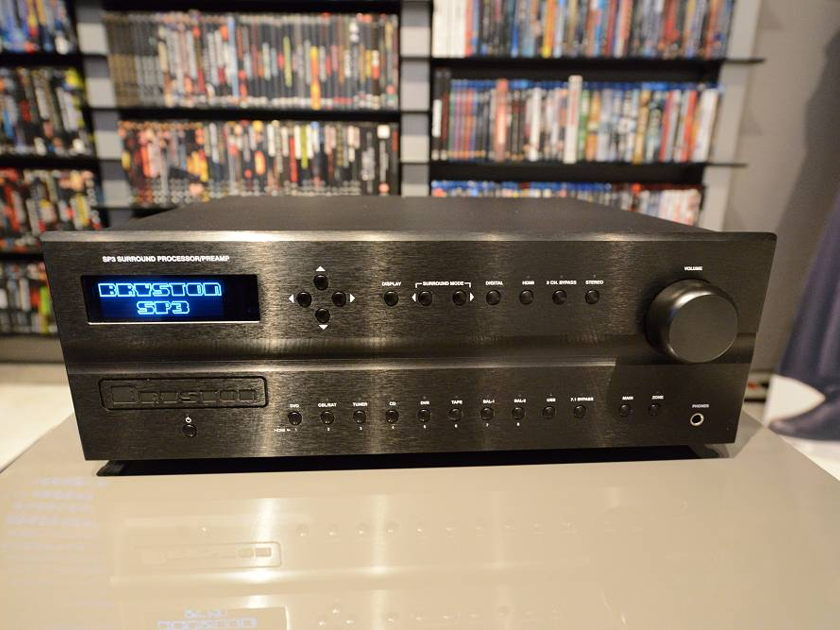 """Bryston SP3 Surround Processor / Preamplifer with 17""""   Black Faceplate & Blue LED Display - Stunning!"""