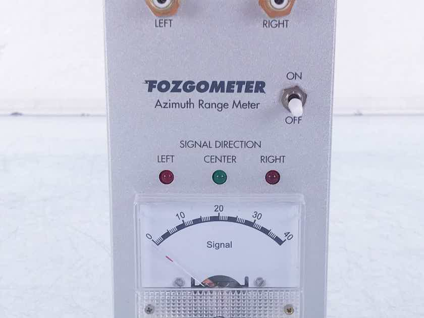 Musical Surroundings Fozgometer Azimuth Range Meter Tara Labs XLR Adapter Cables (13910)