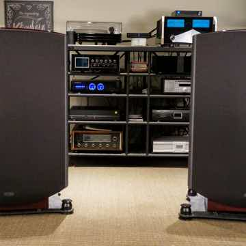 Quad ESL 2812 with Townshend Seismic Podium Stands