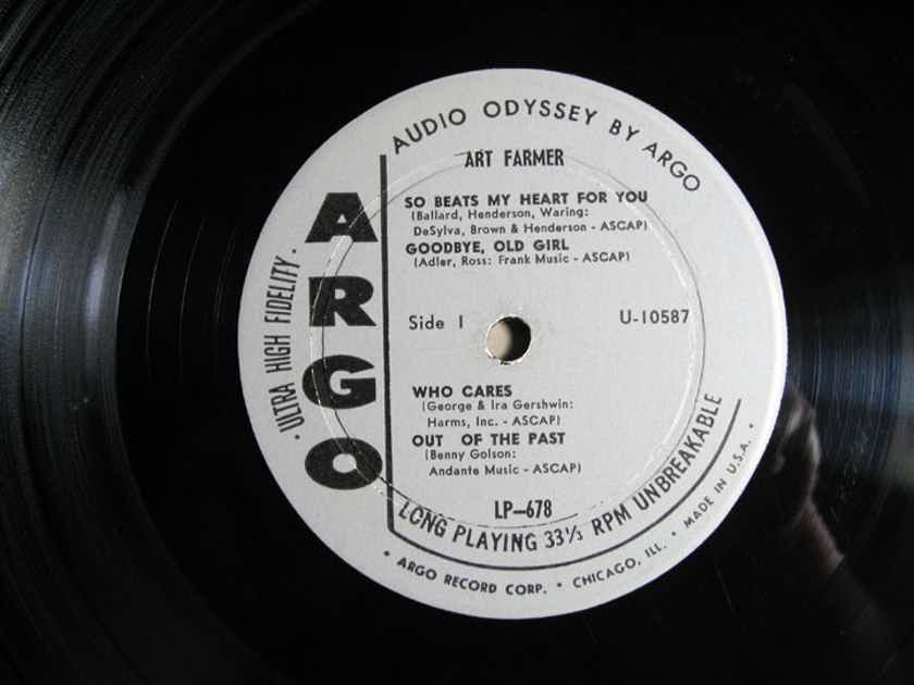 Art Farmer - Art - First Press 1960 Argo Records LP-678