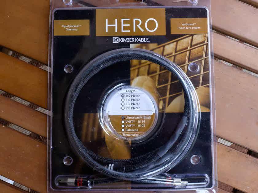 Kimber Kable Hero .5 meter pair interconnects RCA-RCA