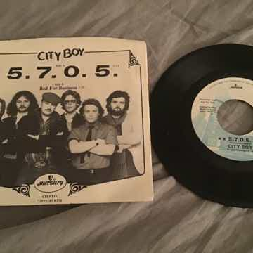 City Boy 5.7.0.5. Promo 45 With Picture Sleeve