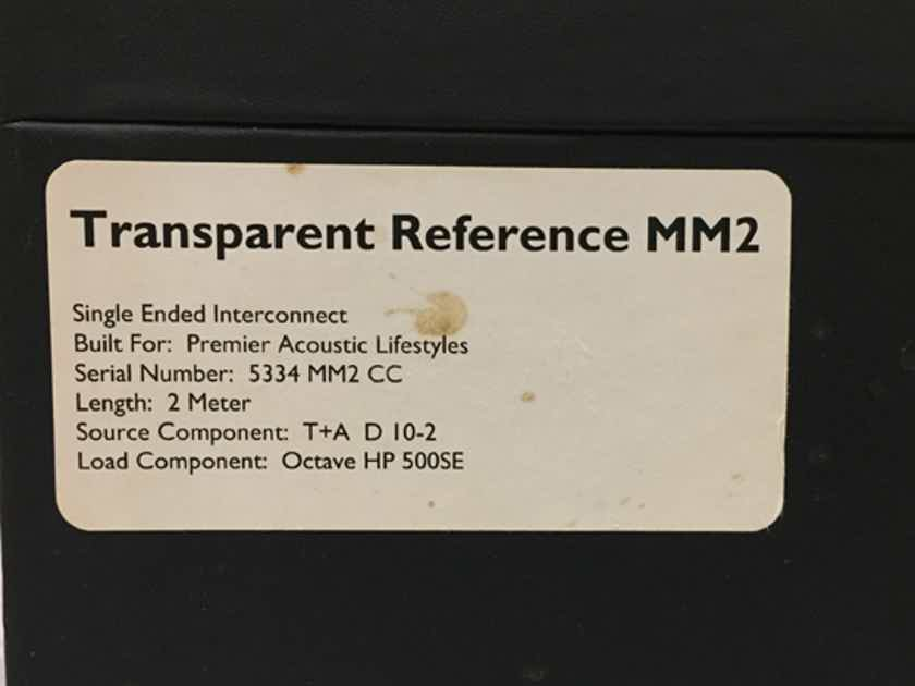 Transparent Audio Reference MM in MM2 RCA Interconnects, 2m