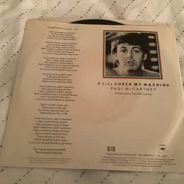Paul McCartney  Waterfalls 45 With Picture Sleeve Vinyl...