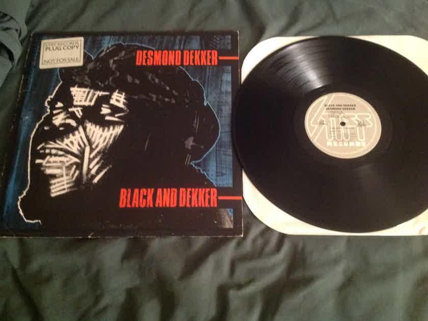 Desmond Dekker Black And Dekker Stiff Records Promo LP