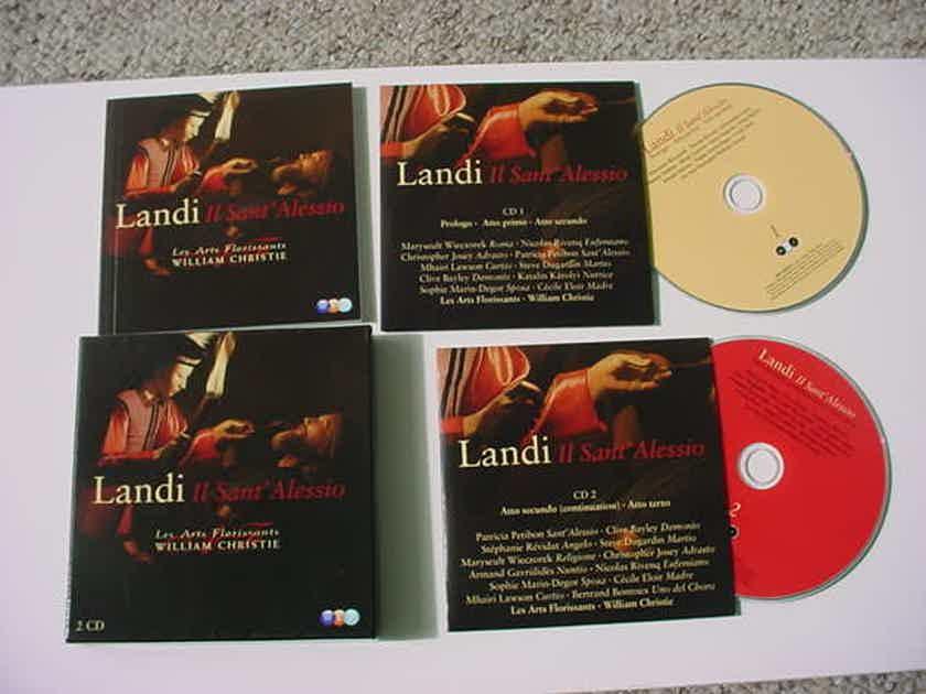 William Christie les arts Florissants 2 cd set - Landi II saint Alessio WCJ ERATO DISQUES SEE ADD
