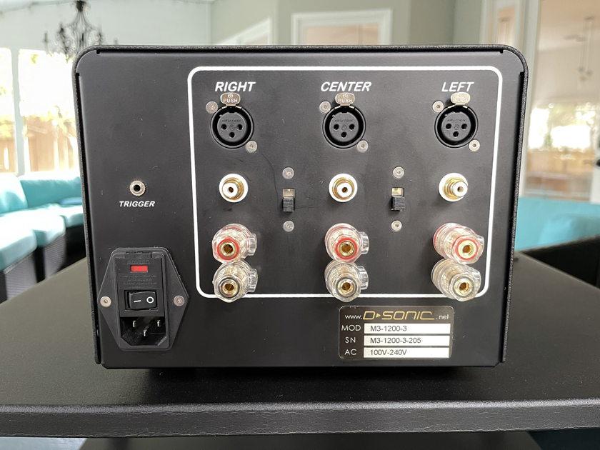 D-Sonic M3a-1200 3-channel class-D amplifier