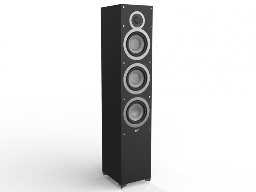 Elac  Debut F6  floorstanding tower speakers.