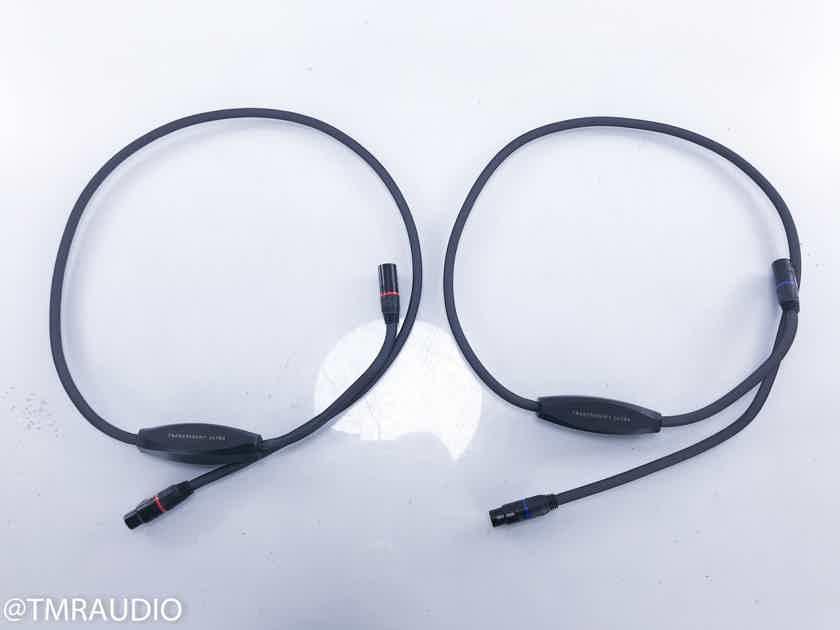 Transparent Audio Balanced Ultra G5 XLR Cables 1.5m Pair Interconnects; Gen 5 (15490)