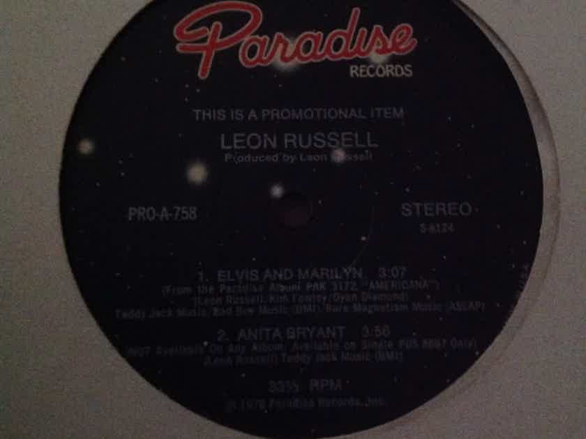 Leon Russell - Elvis And Marilyn Anita Bryant Paradise Records Promo 12 Inch Vinyl NM