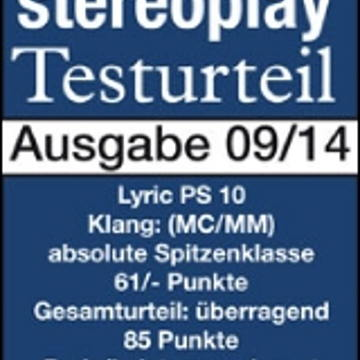 Stereoplay Test - Sound: outstanding, Verdict: absolutely top class!