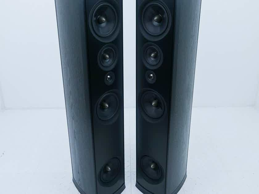 PSB Synchrony One Floorstanding Speakers Black Pair w/ Soundocity Outriggers (14328)