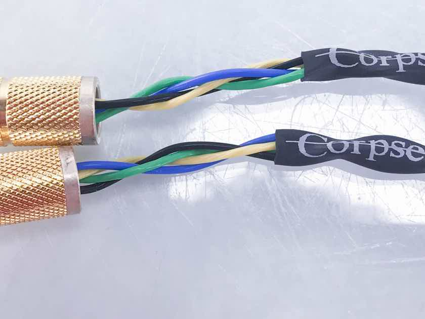 Corpse Cable Earth Rocker RCA Cables; .5m Pair Interconnects (11853)