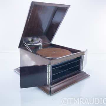 Antique Hand Cranked Tabletop Gramophone
