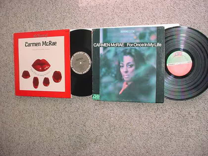 Carmen McRae 2 lp records the finest of Bethlehem years and for once in my life