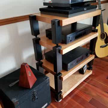 Timbernation 4 Shelf Maple STACK RACK with TEAK Stained Shelves