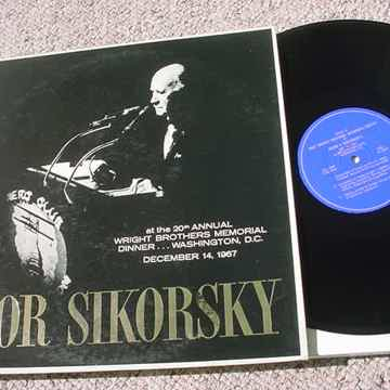 Igor Sikorsky Aircraft 1 sided  lp record CO 2259 at the 20th annual Wright Brothers Memorial