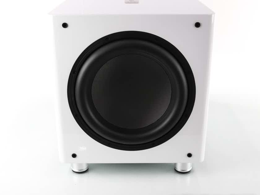"""Sumiko S.10 12"""" Powered Subwoofer; White; S10; Closeout w/ Warranty (1/2) (23053)"""