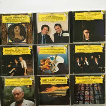 Deutsche Grammophon Cd lot of 9 cds Schumann Sibelius Poulenc Prokofiev Brahms more
