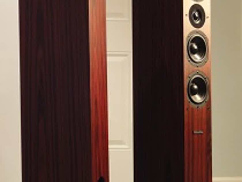 Silverline Audio Prelude Plus Rosewood thin colum speakers-Free Freight
