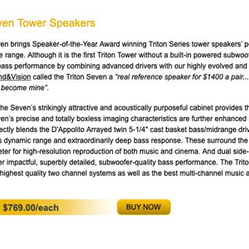 GoldenEar Technology Triton Seven