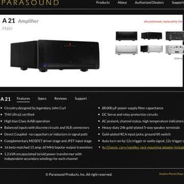 Parasound Halo A21