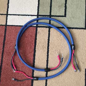 Clear Speaker Cables 2 pair four feet