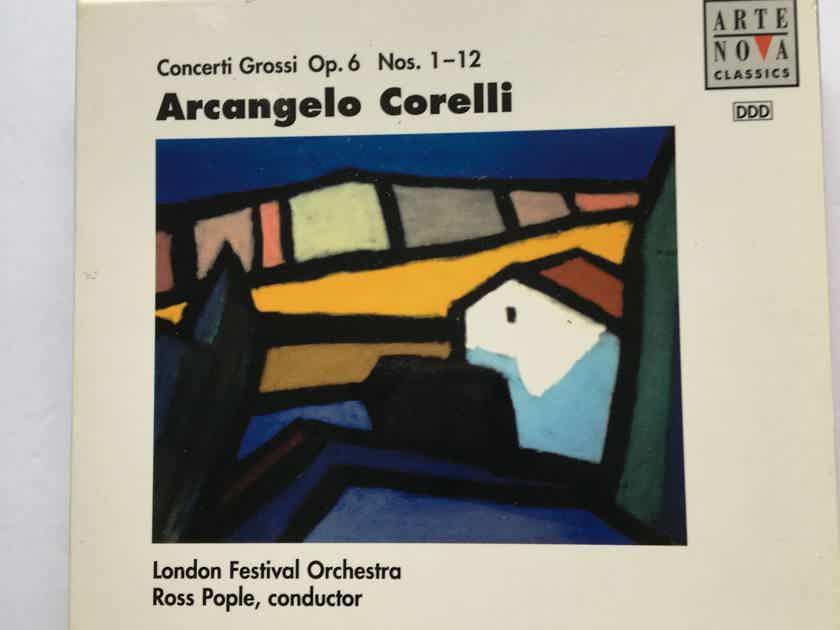Arcangelo Corelli Ross Pople Concerti Grossi op6 nos 1-12 Cd set Arte Nova classics 1996