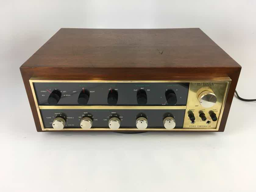 McIntosh C-20 Vintage All Tube Preamp In Rare Brass, Collectible. Serviced