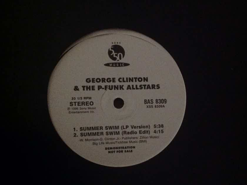 George Clinton & The P-Funk Allstars - Summer Swim Promo 12 Inch EP 550 Music Records Vinyl NM