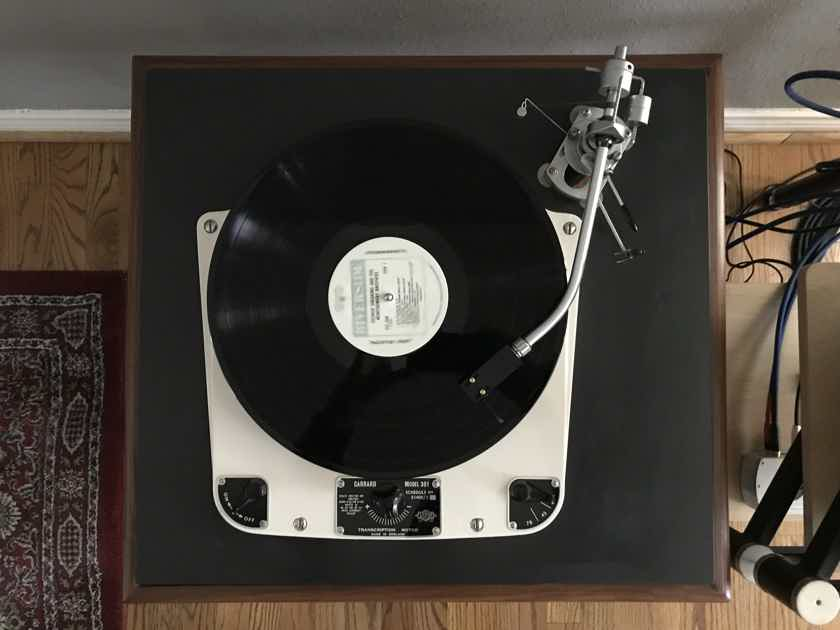 Garrard 301  / SME 3009 S2 / Denon DL-103 / walnut and slate plinth
