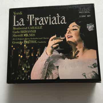 Verdi Carlo Bergonzi Georges Pretrew La Traviata Montserrat Caballe Cd set RCA