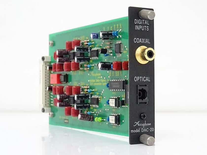 ACCUPHASE DAC-20 OPTION BOARD FOR INTEGRATED AMPS AND PREAMPS