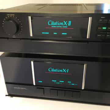Citation X-I and X-II Matching Preamp and Amplifier, Ve...