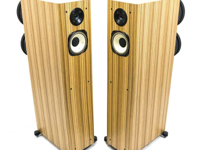 Horning Hybrid Aristotle Ultimate Zigma Plus Speakers; Zebrawood Pair; No Grills (24792)
