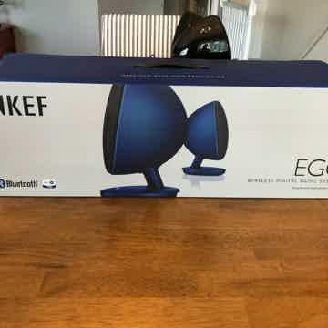 KEF EGG Versatile Desktop Speaker System Gloss Black Bl...