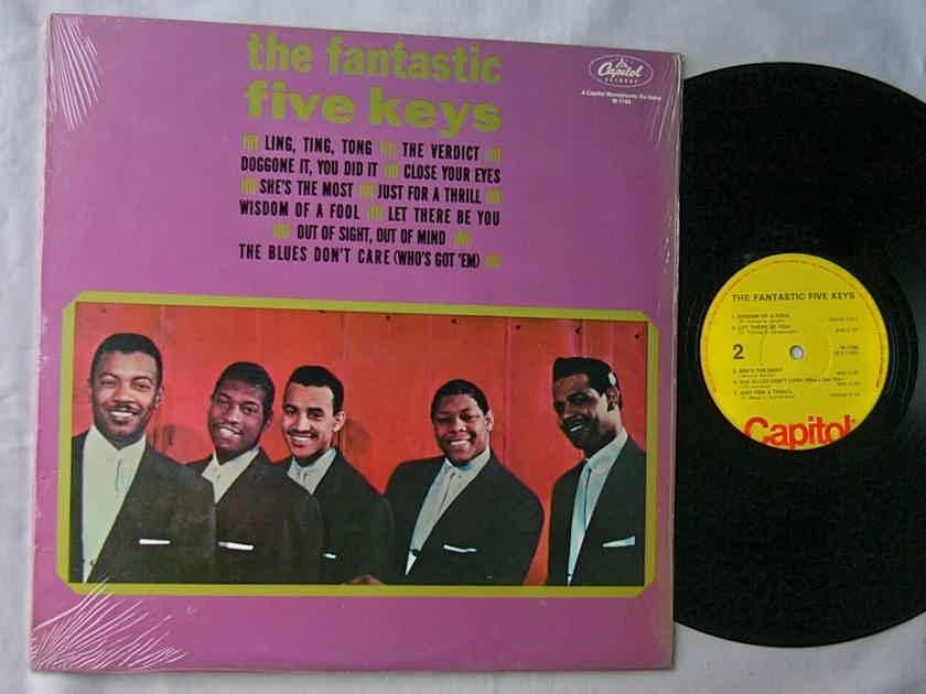 THE FIVE KEYS LP--THE FANTASTIC - FIVE KEYS--superb doo-wop soul album on Capitol Records